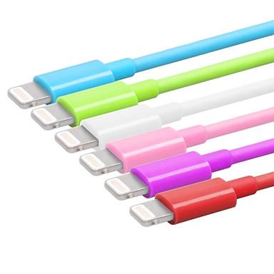 mfi raio de 8 pinos de sincronização e carregador USB Cabo redondo maçã yellowknife® para iphone7 6s 6 mais se 5s 5 / ipad (100cm)