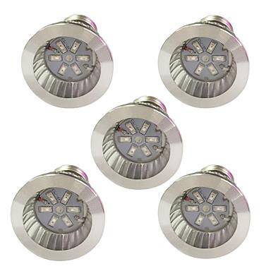 5pcs 3,5 W 100 lm E14 GU10 E27 LED-kasvivalo 6 ledit SMD 5730 Punainen Sininen K AC 85-265 V