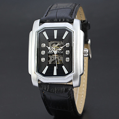 Męskie zegarek mechaniczny Zegarek na nadgarstek Szkieletowy Do sukni/garnituru Modny Sportowy Nakręcanie automatyczne szwajcarski