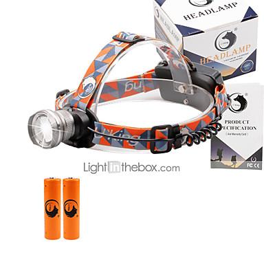 U'King Otsalamput Ajovalo 2000 lm 3 Tila LED Akuilla Zoomable Säädettävä fokus Kompakti koko Helppo kantaa High Power Monikäyttö