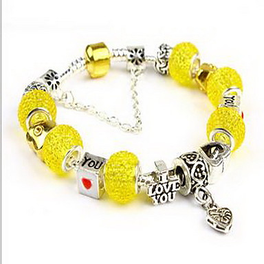 Męskie Damskie Bransoletki i łańcuszki na rękę Miłość Natura Przyjaźń Modny Kryształ Stop Heart Shape Biżuteria Na Impreza Urodziny