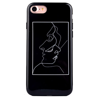 Pentru iPhone 8 iPhone 8 Plus Carcase Huse IMD Model Carcasă Spate Maska Femeie Sexy Moale TPU pentru Apple iPhone 8 Plus iPhone 8 iPhone