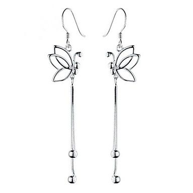 Cubic Zirconia Κρεμαστά Σκουλαρίκια Κοσμήματα Γάμου Πάρτι Καθημερινά Causal Ασήμι Στερλίνας 1 ζευγάρι Ασημί