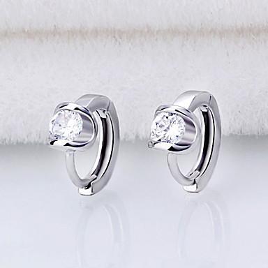 Cercei Rotunzi  Zirconiu Cubic Imitație de Perle Bijuterii Argintiu Nuntă Petrecere Zilnic Casual Costum de bijuterii