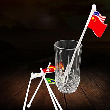 Novelty Pahare, # ml Dispensabil Plastic Cocktail bastoane stir