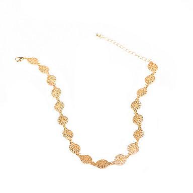 Gerdanlıklar Mücevher Geometric Shape alaşım Euramerican minimalist tarzı Avrupa Moda Altın Gümüş Mücevher Için Günlük 1pc