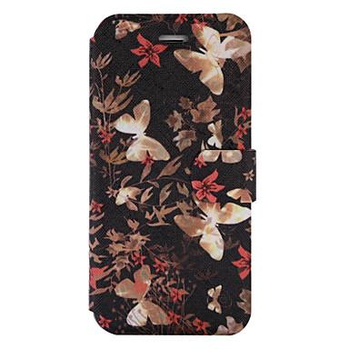 Varten Korttikotelo Lomapkko Tuella Flip Koristeltu Kuvio Etui Kokonaan peittävä Etui Perhonen Kova Tekonahka varten AppleiPhone 7 Plus