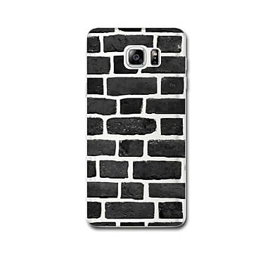Için Ultra İnce Temalı Pouzdro Arka Kılıf Pouzdro Geometrik Desenli Yumuşak TPU için Samsung Note 5 Note 4