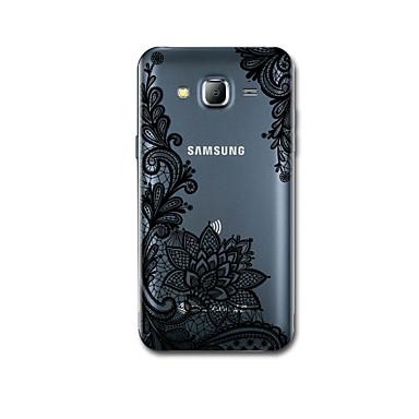 Pouzdro Uyumluluk Samsung Galaxy J7 (2016) J5 (2016) Ultra İnce Temalı Arka Kılıf dantel Baskı Yumuşak TPU için J7 (2016) J5 (2016)