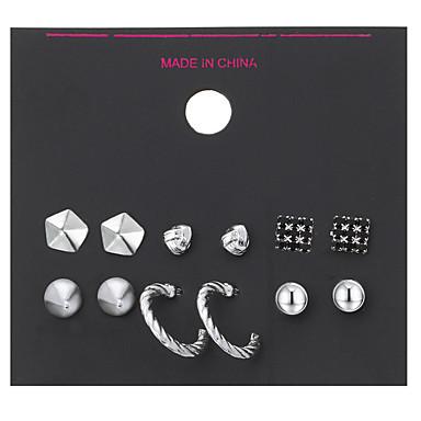 Kolczyki na sztyft Rhinestone Pearl imitacja Stop Biżuteria Na Ślub Impreza Codzienny Casual Sport