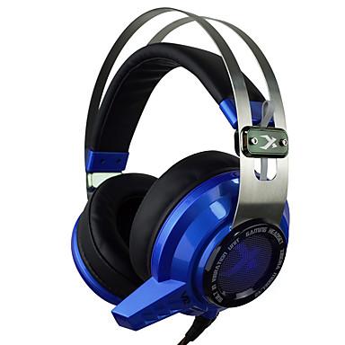 kulak üzerinde xiberia v2 oyun kulaklık mikrofon ile hafif titreşim stereo kulaklık pc oyun bilgisayarı süper bas kızdırma kulaklık açtı