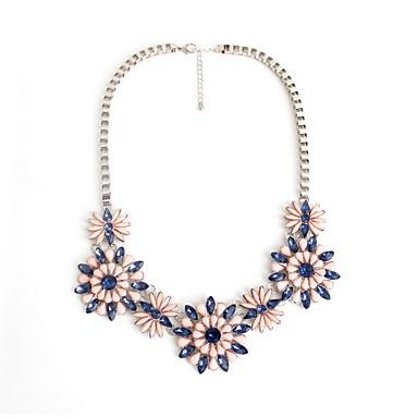 Γυναικεία Σκέλη Κολιέ Κοσμήματα Πετράδι Κράμα Flower Shape Κοσμήματα Μοντέρνα Εξατομικευόμενο Euramerican Βυσσινί ΚοσμήματαΠάρτι Ειδική