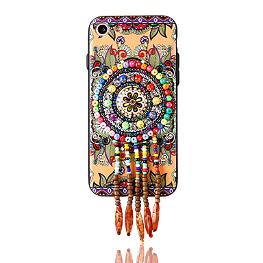 إلى حجر كريم نموذج اصنع بنفسك غطاء غطاء خلفي غطاء زهور ناعم TPU إلى Apple فون 7 زائد فون 7 iPhone 6s Plus iPhone 6 Plus iPhone 6s أيفون 6