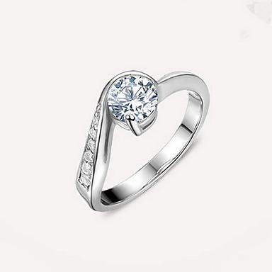 Inel imitație de diamant La modă Argintiu Bijuterii Nuntă Logodnă Zilnic Casual 1 buc