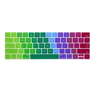 xskn® الانجليزية الملونة لوحة المفاتيح سيليكون الجلد وtouchbar حامية لعام 2016 أحدث ماك بوك برو 13.3 / 15.4 مع شريط لمسة شبكية العين (لنا