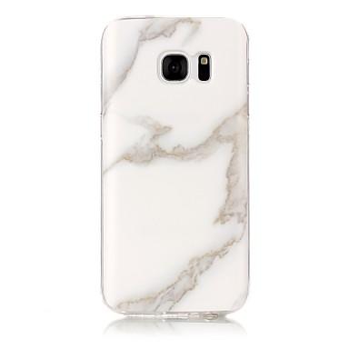 voordelige Galaxy S3 Hoesjes / covers-hoesje Voor Samsung Galaxy S7 edge / S7 / S6 edge IMD / Patroon Achterkant Marmer Zacht TPU