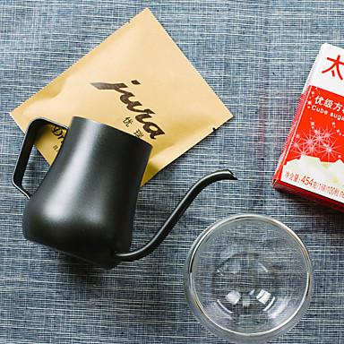 350 ml Paslanmaz Çelik Kahve Isıtıcı , 3 su bardağı Maker Yeniden kullanılabilir