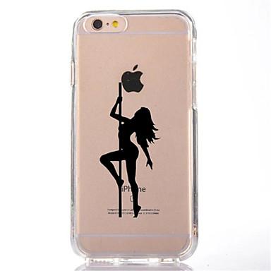 Maska Pentru Apple iPhone 7 Plus iPhone 7 Transparent Model Capac Spate Femeie Sexy Moale TPU pentru iPhone 7 Plus iPhone 7 iPhone 6s