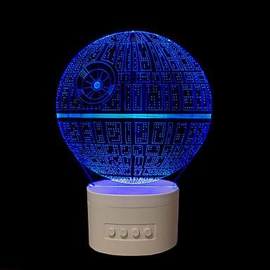 1 τμχ Επιτραπέζια Φωτιστικά LED Φώς Νυκτός Πολύχρωμο USB Με ροοστάτη με κέρατο Αλλάζει Χρώμα