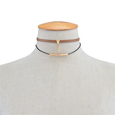 Damskie Inne Spersonalizowane Podwójna warstwa Modny euroamerykańskiej Naszyjniki choker Biżuteria Skórzany Miedź Naszyjniki choker ,
