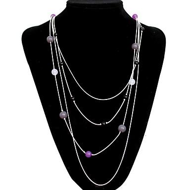 Γυναικεία Σκέλη Κολιέ Κοσμήματα Κοσμήματα Συνθετικοί πολύτιμοι λίθοι Κράμα Φύση Εξατομικευόμενο Euramerican Κοσμήματα Για Πάρτι