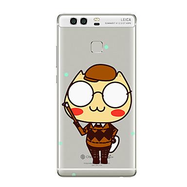 Pouzdro Uyumluluk Huawei P9 Huawei P9 Lite Huawei P8 Huawei Huawei P9 Artı Huawei P8 Lite Huawei Mate 8 Şeffaf Temalı Arka Kapak Karton