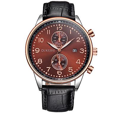 Bărbați Ceas La Modă Ceas de Mână Quartz Calendar Piele Bandă Cool Casual Negru Alb Negru Maro Albastru