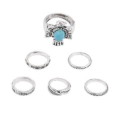 Δαχτυλίδια για τη Μέση του Δαχτύλου Κράμα Round Shape Πεπαλαιωμένο Λευκό Κοσμήματα Γάμου Πάρτι Ειδική Περίσταση Καθημερινά Causal 1set