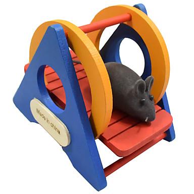 شنشلس الهمستر حيوان قارض خشب محمول الكوسبلاي عجلات التمرين