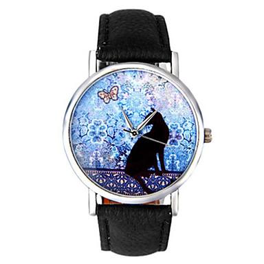 Kadın's Moda Saat Quartz PU Bant Siyah Beyaz Mavi
