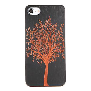 Için Süslü Temalı Pouzdro Arka Kılıf Pouzdro Ağaç Sert Ahşap için Apple iPhone 7 Plus iPhone 7