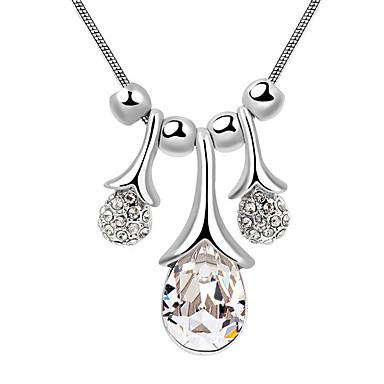 Γυναικεία Κρεμαστά Κολιέ Κρυστάλλινο Round Shape Κυκλικό Κοσμήματα Για Αρραβώνας Καθημερινά