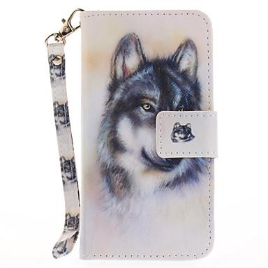 Pentru Portofel Titluar Card Cu Stand Întoarce Model Maska Corp Plin Maska Animal Greu PU piele pentru AppleiPhone 7 Plus iPhone 7 iPhone