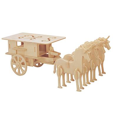 DIY Κιτ Παζλ 3D Παζλ Παιχνίδια λογικής και παζλ Αυτοκίνητα Παιχνιδιών Παιχνίδια Άμαξα Άλογο Άρμα Ανδρικά Γυναικεία Παιδικό Δεν