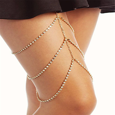Bacak Zincirleri - Kadın's Altın / Gümüş Moda Geometric Shape Vücut Mücevheri Uyumluluk Parti / Özel Anlar