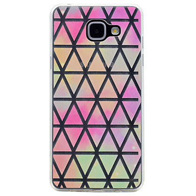 Hülle Für Samsung Galaxy A5(2017) A3(2017) Transparent Muster Rückseite Geometrische Muster Weich TPU für A3 (2017) A5 (2017) A7 (2017)