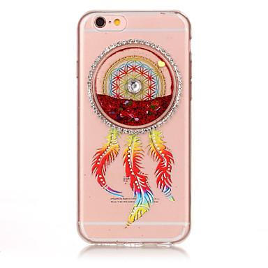 Varten Paljetti Virtaava neste Koristeltu Kuvio Etui Takakuori Etui Unisieppari Pehmeä TPU varten AppleiPhone 7 Plus iPhone 7 iPhone 6s