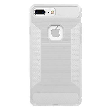 Varten Läpinäkyvä Etui Takakuori Etui Yksivärinen Pehmeä Hiilikuitu varten AppleiPhone 7 Plus iPhone 7 iPhone 6s Plus iPhone 6 Plus