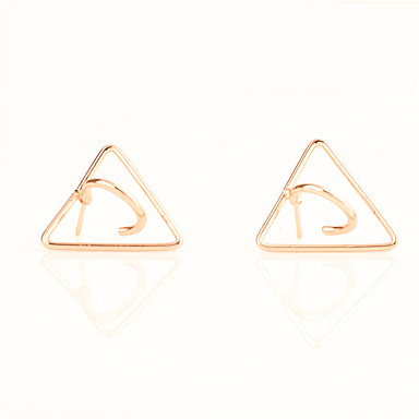 Kolczyki na sztyft Biżuteria Geometryczny Modny Osobiste euroamerykańskiej Miedź Triangle Shape Gold Biżuteria Na Codzienny Casual 1 para