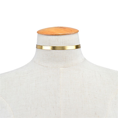 Damskie Pojedynczy Strand Kształt euroamerykańskiej Modny minimalistyczny styl Naszyjniki choker Biżuteria Skórzany Miedź Naszyjniki