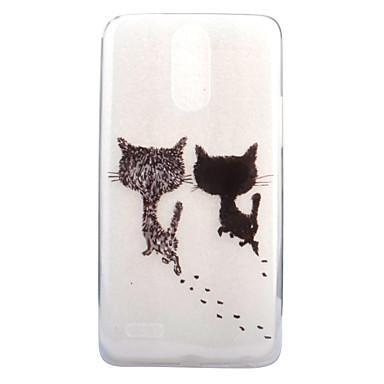 Για Διαφανής Με σχέδια tok Πίσω Κάλυμμα tok Γάτα Μαλακή TPU για LG LG G6 LG X Screen LG X Power