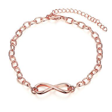 Pentru femei Brățări cu Lanț & Legături Cristal Prietenie Vintage La modă Placat Cu Aur Roz Geometric Shape Bijuterii Pentru Nuntă