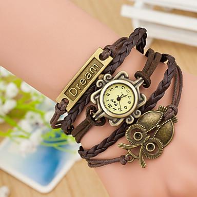 السيدات ساعة رياضية ساعة المعصم فريدة من نوعها الإبداعي ووتش كوارتز جلد فرقة خلاق متعدد الألوان