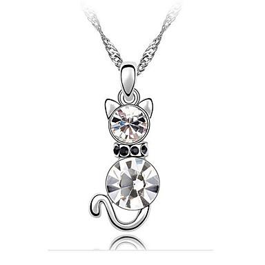 Damskie Naszyjniki z wisiorkami Kryształ Zwierzęta Modny Godny podziwu Osobiste euroamerykańskiej Biżuteria Na Ślub Impreza