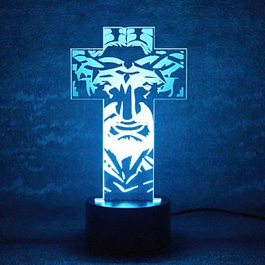 joulu jumala kosketus himmeneminen 3D LED yövalo 7colorful koristeluun ilmapiiri lamppu uutuus valaistus Joulun valo