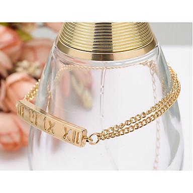 للمرأة ´بنات أساور السلسلة والوصلة سبيكة الطبيعة مجوهرات الأولية ذهبي مجوهرات 1PC