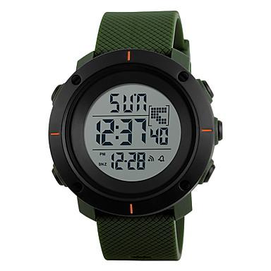 Ανδρικά Αθλητικό Ρολόι Ρολόι Καρπού Κινέζικα Ψηφιακό Συναγερμός Ημερολόγιο Ανθεκτικό στο Νερό LCD Διπλές Ζώνες Ώρας Χρονόμετρο καουτσούκ