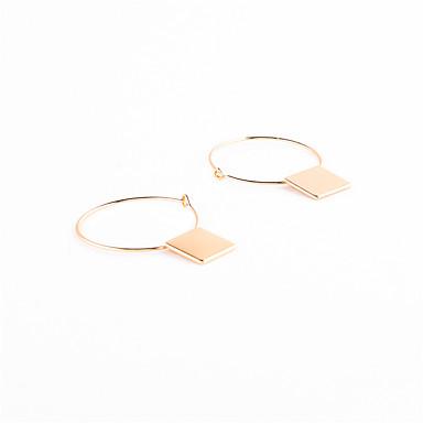 Sallantılı Küpe Mücevher Sallantılı Stil Geometrik Dörtgen Moda Krzyż Euramerican Bakır Geometric Shape Altın Siyah Gümüşî Mücevher Için