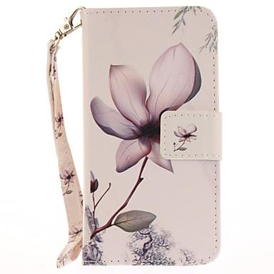 Pentru Portofel Titluar Card Cu Stand Întoarce Model Maska Corp Plin Maska Floare Greu PU piele pentru AppleiPhone 7 Plus iPhone 7 iPhone