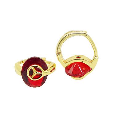 Damskie Dla dziewczynek Kolczyk sztuczna Diament Unikalny Modny Osobiste Hipoalergiczny euroamerykańskiej Cyrkon Pokryte różowym złotem